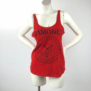 Bravado Ramones Red Graphic Tank Top